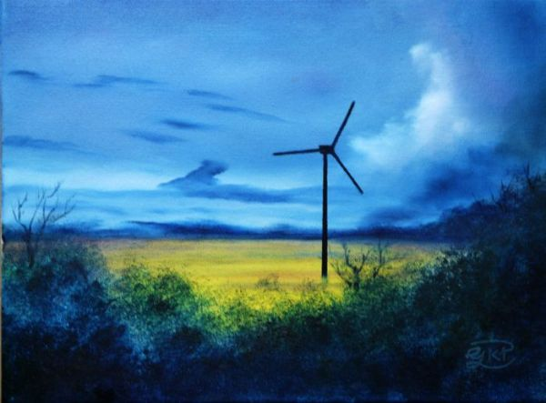 (Sold) Changing Landscape - Oil Painting (Sold)