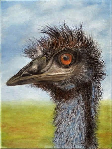 (Sold) Emu at Eagle Point - Original Oil Painting by Garry Purcell (Sold)
