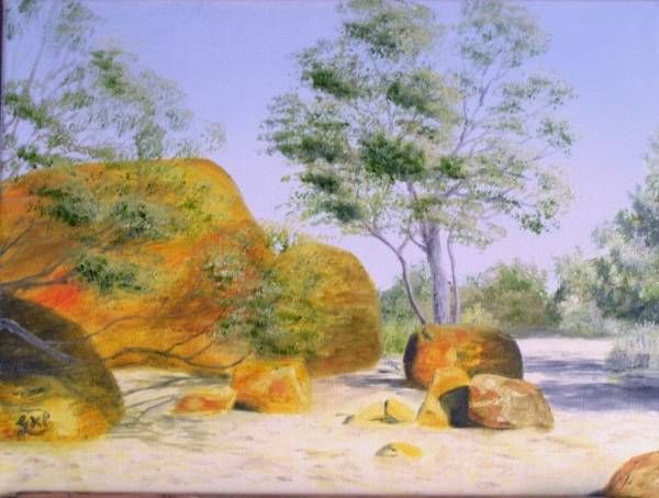 (Sold) Mt Magnet, Western Australia, Australian Outback Oil Painting (Sold)