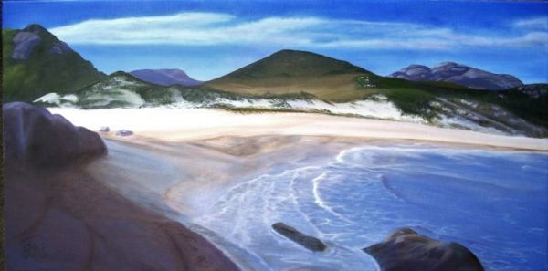 (Sold) Tidal River Mouth - Wilsons Promontory, Victoria Original Oil Painting (Sold)